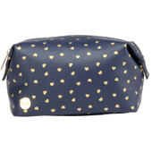 Mi-Pac Wash Bag Hearts Navy/Gold