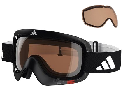 Adidas ID2 Pro Black Matt + Bright Antifog & Active Silver Lenzen