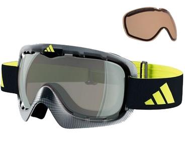 Adidas ID2 Pro Black Wire + Bright Antifog & Silver Mirror Lenzen