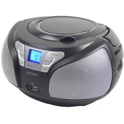 Denver TCU206 boombox met radio, cd & USB Zwart