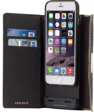 Case-Mate Rebecca Minkoff Charging Wallet Case Apple iPhone 6/6s Zwart