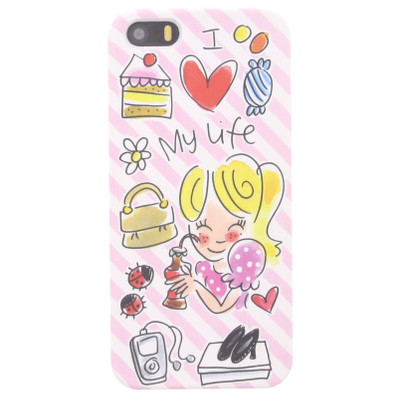 Image of Blond Amsterdam I Love My Life Apple iPhone 5/5S/SE Roze