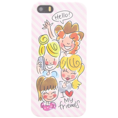 Image of Blond Amsterdam I Love My Friends Apple iPhone 5/5S/SE Roze