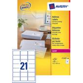Avery Adresetiketten QuickPEEL Wit 63,5x38,1mm 100 Vellen