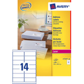 Avery Adresetiketten QuickPEEL Wit 99,1x38,1mm 100 Vellen