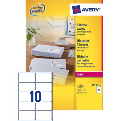 Image of Avery Adresetiketten QuickPEEL Wit 99,1x57mm 100 Vellen