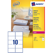 Avery Adresetiketten QuickPEEL Wit 99,1x57mm 100 Vellen