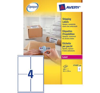 Avery Verzendetiketten BlockOut Wit Laser 139x99,1mm