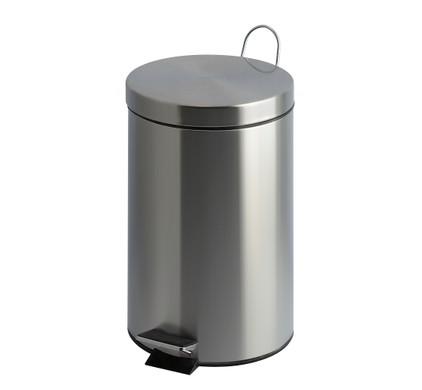 V-PART Pedaalemmer, 20 liter, mat Rvs