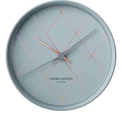 Georg Jensen Henning Koppel Clock Rvs 22 cm Blauw/Koper