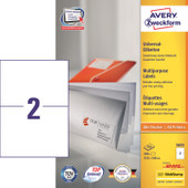Avery Universele Etiketten Wit 210x148mm 100 vellen
