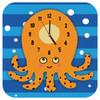 Wandklok Geschilderd Octopus - 1