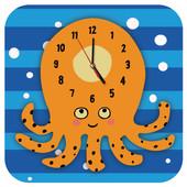 JP4KIDS Wandklok Geschilderd Octopus