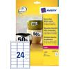 Avery Ultrasterke Etiketten Wit 63,5x33,9mm 20 vellen