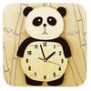 Wandklok Geschilderd Panda - 2