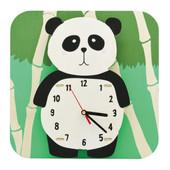 JP4KIDS Wandklok Geschilderd Panda