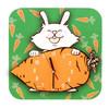 Wandklok Geschilderd Rabbit - 1