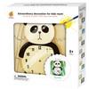 Wandklok Geschilderd Panda - 3