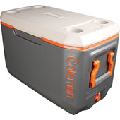 Coleman 70 Qt Xtreme Cooler Tricolor Charcoal/Orange/Grey