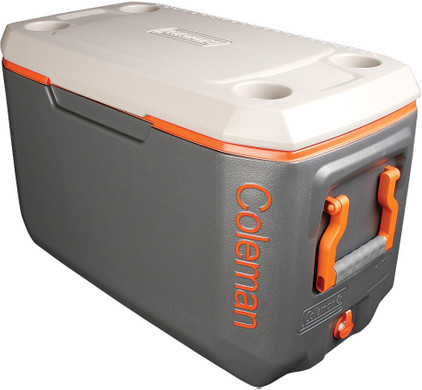 Coleman 70 Qt Xtreme Cooler Tricolor Charcoal/Orange/Grey