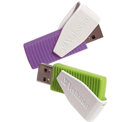 Verbatim Swivel Usb 16 GB x 2 (Groen/Paars)