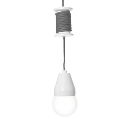 Leitmotiv Hanglamp Spool - Grijs
