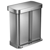 Simplehuman Rectangular Liner Pocket GFT 24+34 Liter RVS