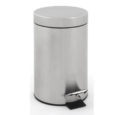EKO Pedaalemmer 3 Liter Mat Chroom