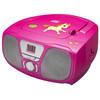linkerkant Draagbare Radio/CD-speler Roze