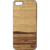 Man&Wood Apple iPhone 5/5S/SE Back Case Wood Terra Bruin
