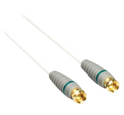 Bandridge Satelliet Antennekabel Male - Male 2 Meter Wit