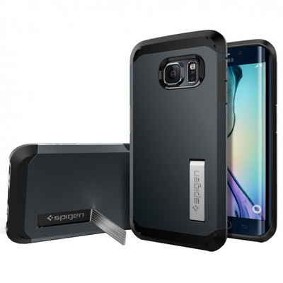 Spigen Tough Armour Samsung Galaxy S6 Edge Blauw