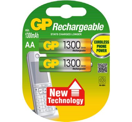 GP AA NiMH 1300 batterijen 2-pack