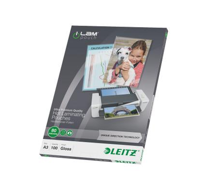 Leitz UDT iLAM Lamineerhoezen 80 micron A3 (100 stuks)