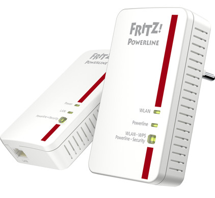 AVM FRITZ!Powerline 1240E WLAN Set International WiFi 1200 Mbps 2 adapters