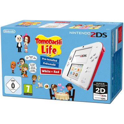 Image of Nintendo 2DS (White Red) + Tomodachi Life
