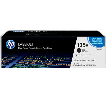 HP 125A Color LaserJet Toner Black (zwart) (CB540A)