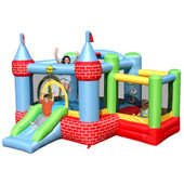 Happy Hop Castle Bouncer with Farmyard Ball Pit