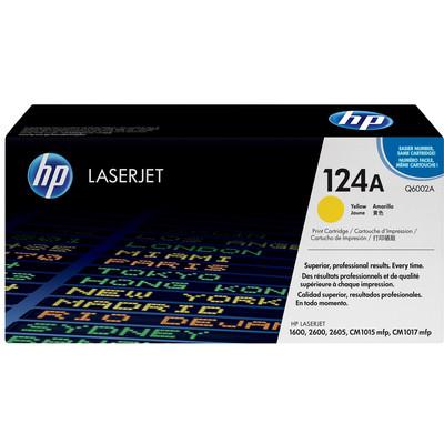 Image of 124A gele LaserJet tonercartridge (Q6002A)