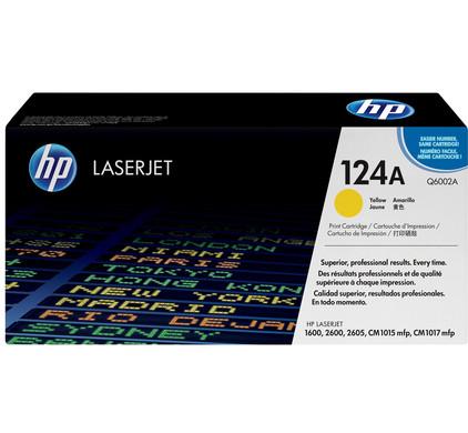 HP 124A LaserJet Toner Geel (Q6002A)