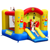 Happy Hop Clown Slide and Hoop Bouncer