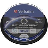VERBATIM M-DISC BD-R 4X 25GB INKJET PRINTABLE 10 PACK SPNDL