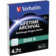 VERBATIM M-DISC DVD+R 4x 4.7 GB 3 PACK Slimcase