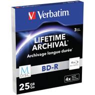 VERBATIM M-DISC BD+R 4x 25 GB Matt Silver 3 PACK Slimcase