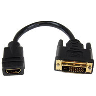 Startech HDMI naar DVI-D Dual Link Video Adapter Kabel 20 CM