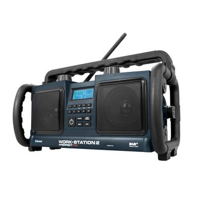 Image of DAB+ Bouwradio PerfectPro Workstation 2 AUX, Bluetooth, DAB+, FM Spatwaterbestendig, Stofdicht, Stofvast Zwart