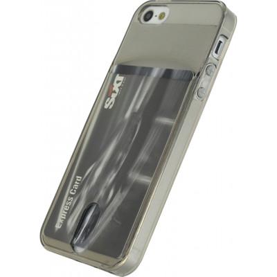 Xccess TPU Card Case Apple iPhone 5/5S/SE Grijs