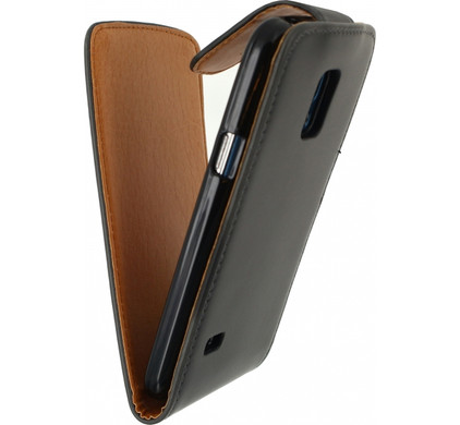 Xccess Flip Case Samsung Galaxy S5 Mini Zwart