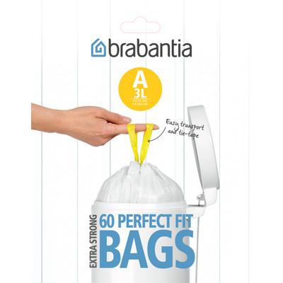 Brabantia Dispenser Pack Afvalzak A - 3 Liter (60 stuks)