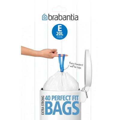 Image of Brabantia Afvalzak Code E - 20 Liter Laag Model (20 stuks)